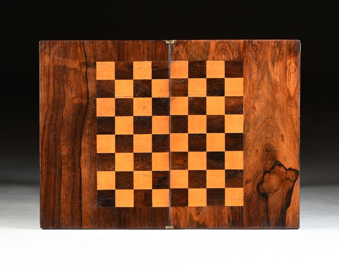 A SOUTHERN EARLY CLASSICAL ROSEWOOD PARQUETRY INLAID - 6