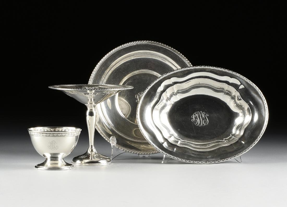 A GROUP OF FOUR AMERICAN STERLING SILVER SERVING
