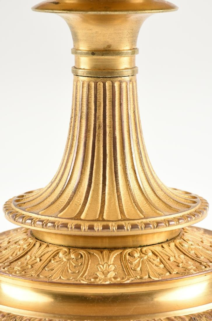 AN ENGLISH OR FRENCH ELECTROTYPE GILT BRONZE TAZZA, - 5