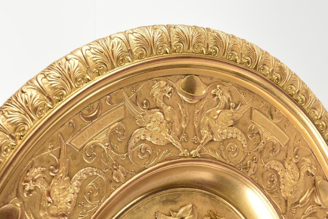 AN ENGLISH OR FRENCH ELECTROTYPE GILT BRONZE TAZZA, - 7