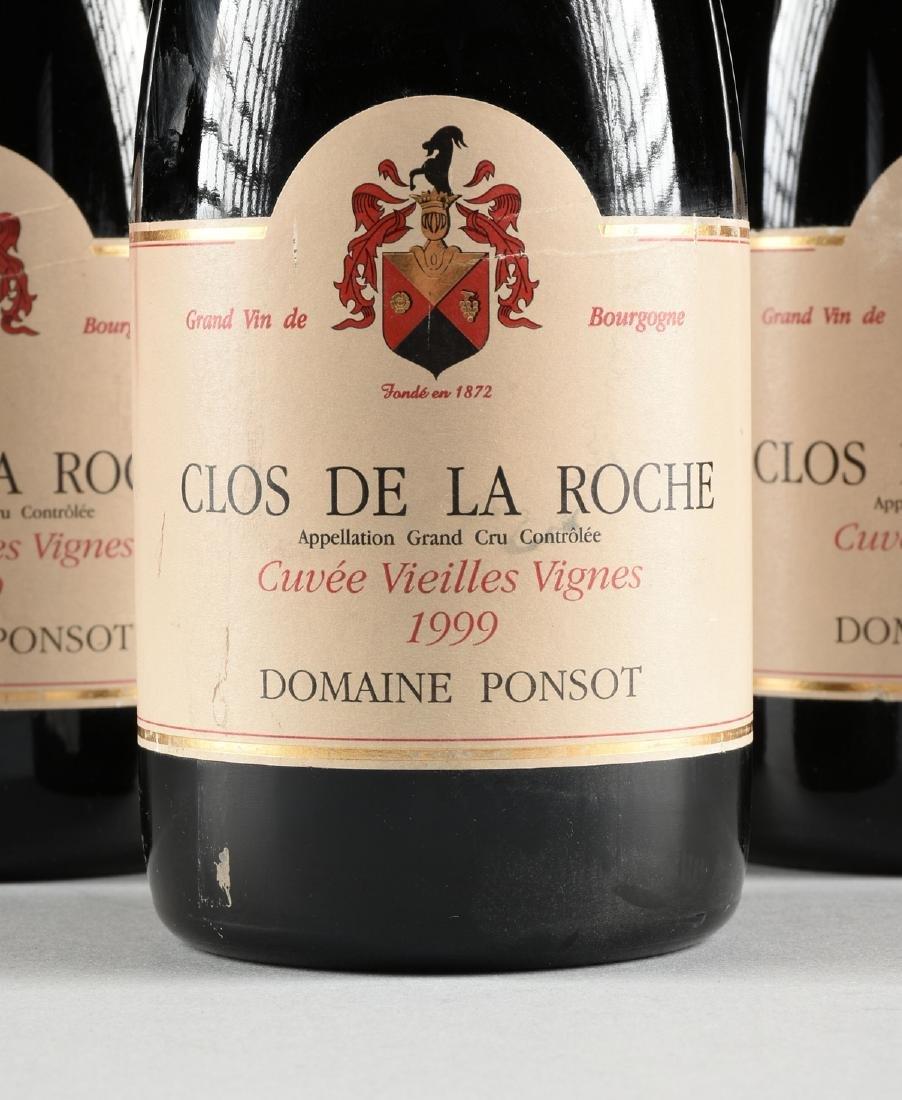 A GROUP OF THREE BOTTLES OF 1999 PONSOT CLOS DE LA - 2