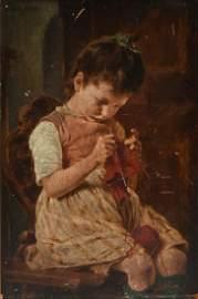 "GEORG JAKOBIDES (Greece 1853-1932) A PAINTING, ""Little"