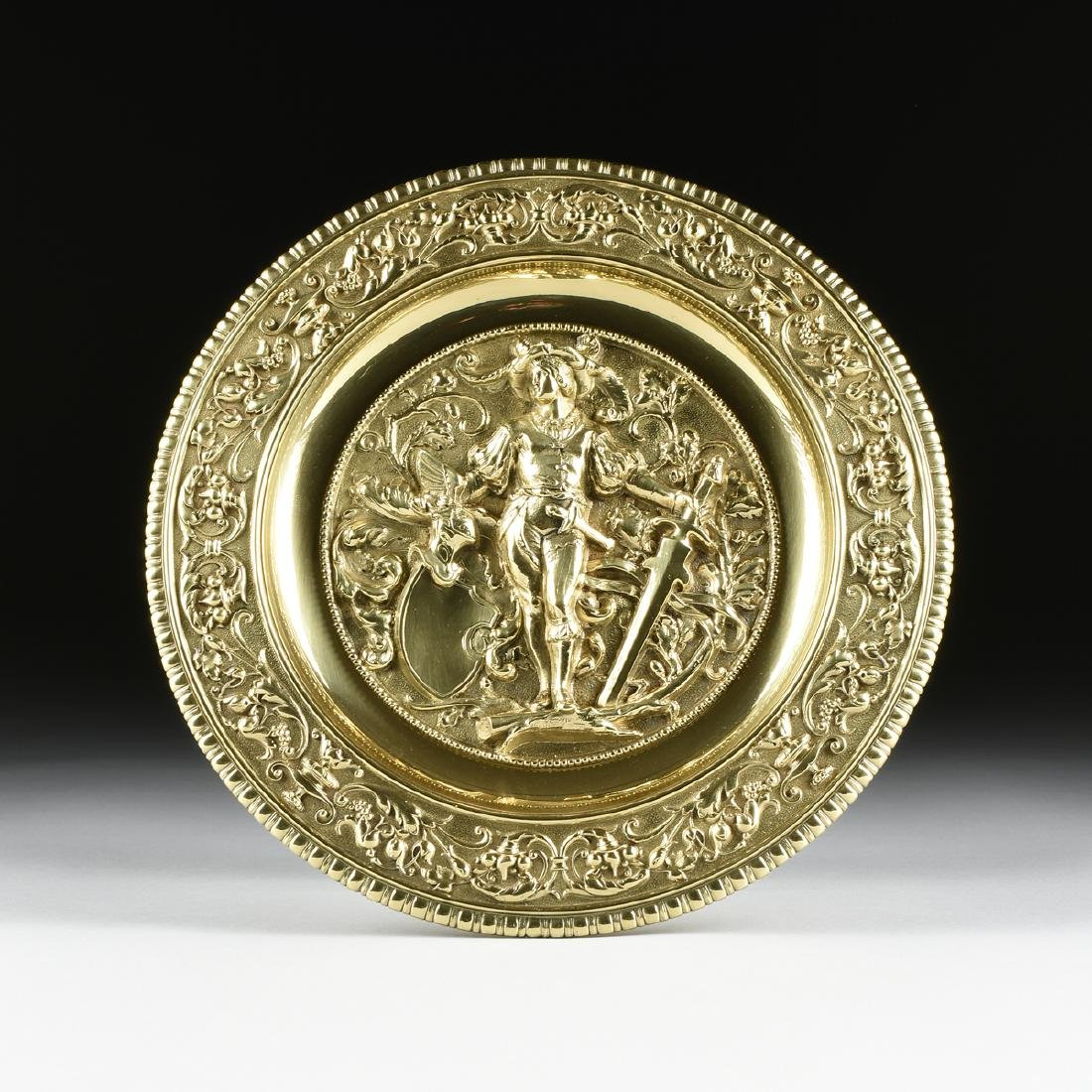 A DUTCH BAROQUE STYLE POLISHED CAST AND PLATED BRASS - 3
