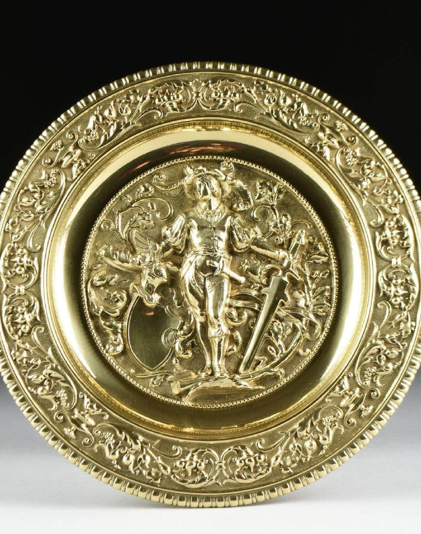 A DUTCH BAROQUE STYLE POLISHED CAST AND PLATED BRASS - 5