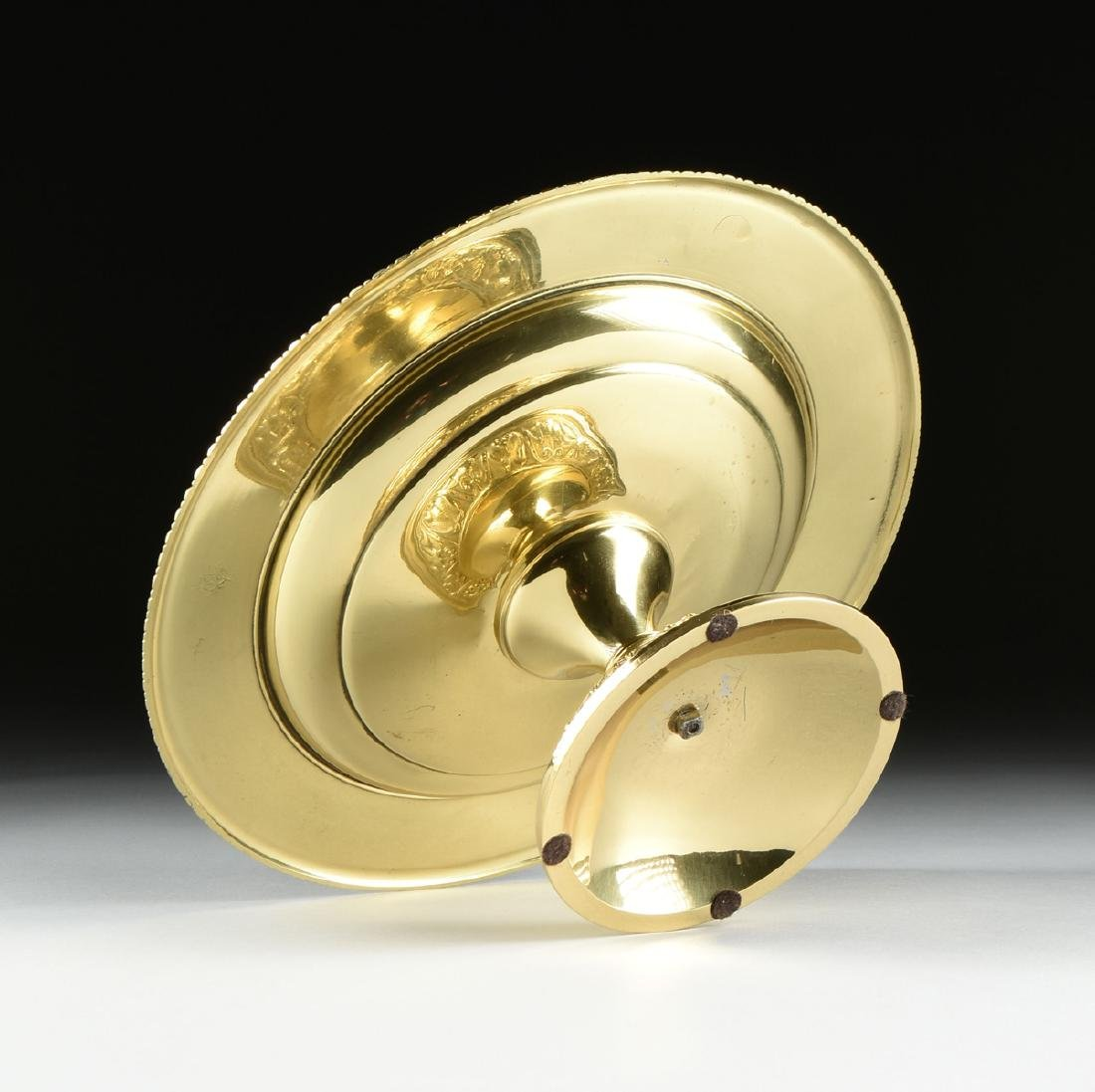 A DUTCH BAROQUE STYLE POLISHED CAST AND PLATED BRASS - 9