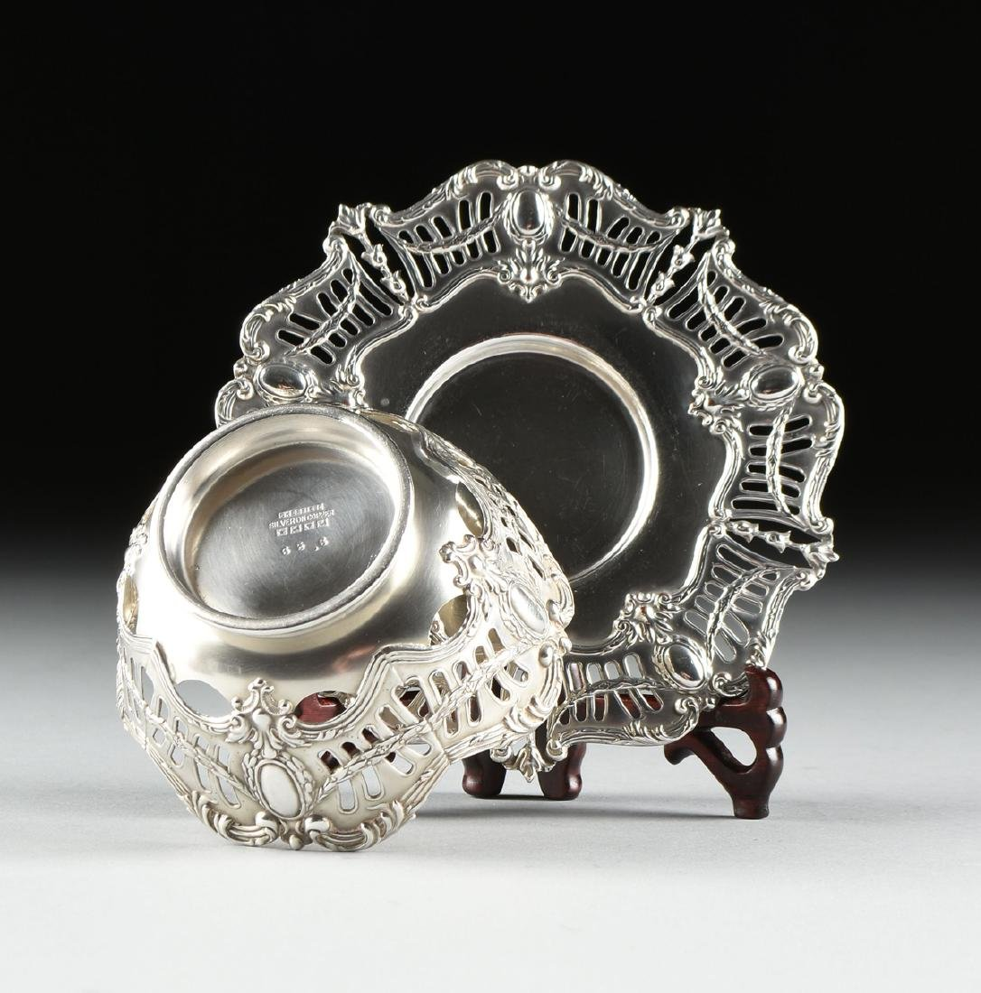 A GROUP OF SIX ENGLISH SILVER PLATED RETICULATED BOWLS - 4