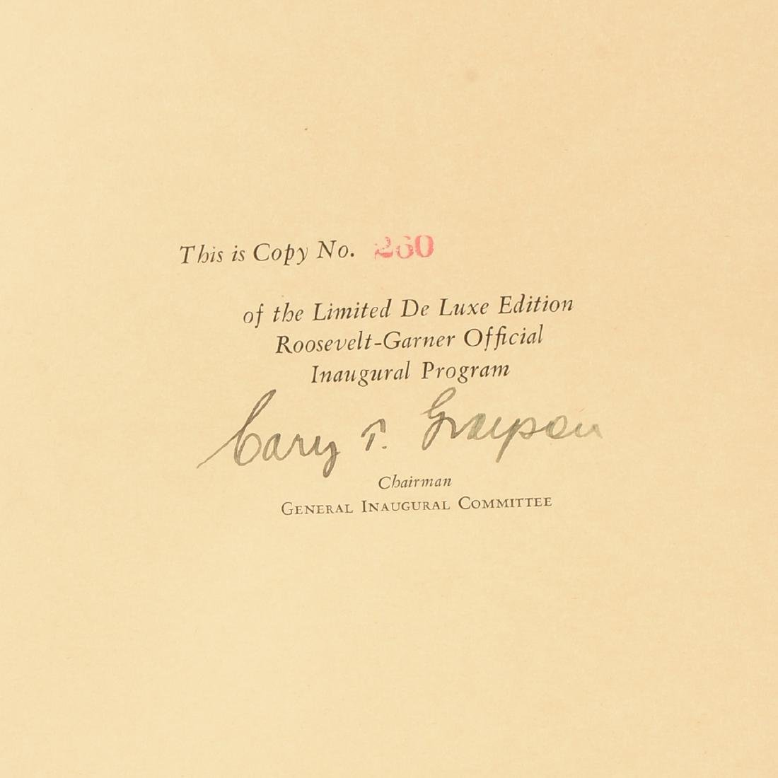 OFFICIAL PROGRAM OF THE INAUGURAL CEREMONIES INDUCTING - 2