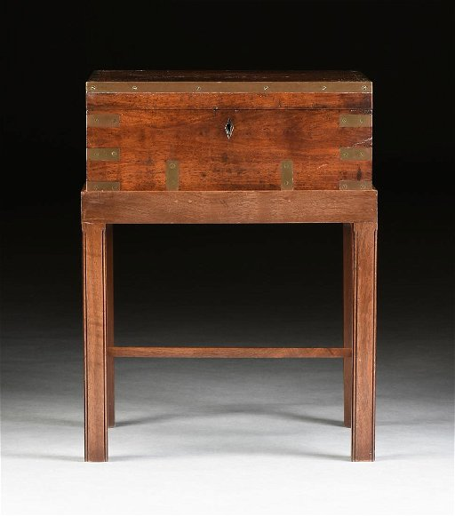 A Victorian Anglo Indian Br Bound Camphor Wood Work