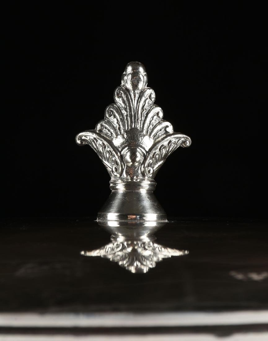 A JAMES W. TUFTS LARGE SILVER PLATE COVERED COLD WATER - 3
