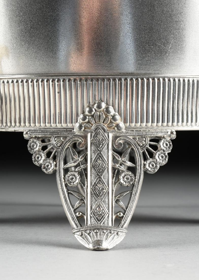 A JAMES W. TUFTS LARGE SILVER PLATE COVERED COLD WATER - 5