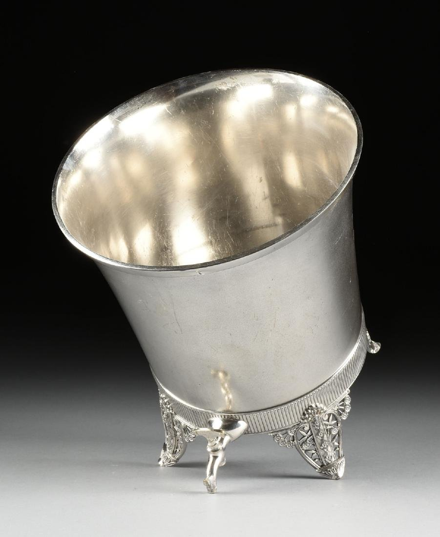 A JAMES W. TUFTS LARGE SILVER PLATE COVERED COLD WATER - 8
