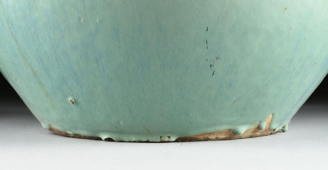 AN ART DECO GREEN CELADON GLAZED EARTHENWARE PLANTER, - 4