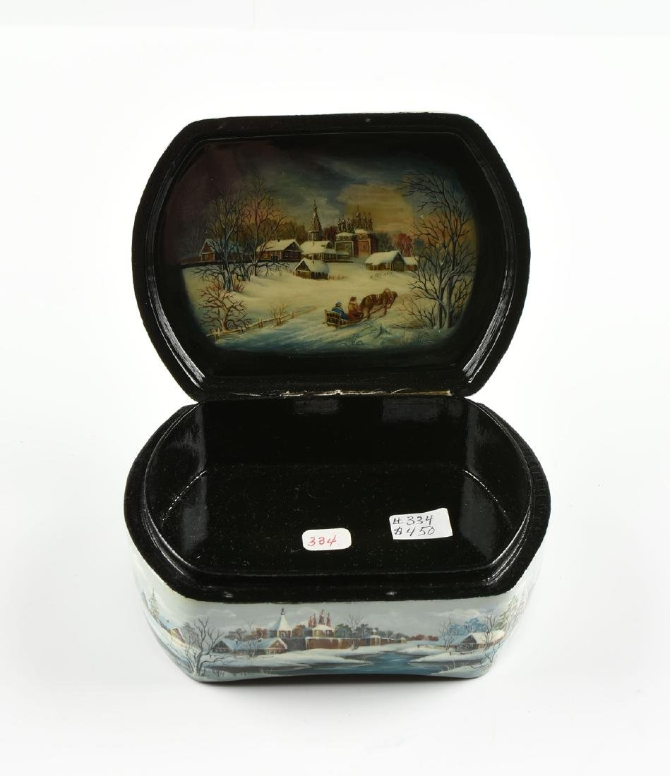 A GROUP OF FOUR PARCEL GILT LACQUER BOXES, RUSSIAN AND - 10