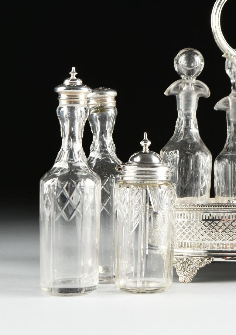 A GROUP OF FIVE SILVER PLATED SERVING PIECES, AMERICAN - 9
