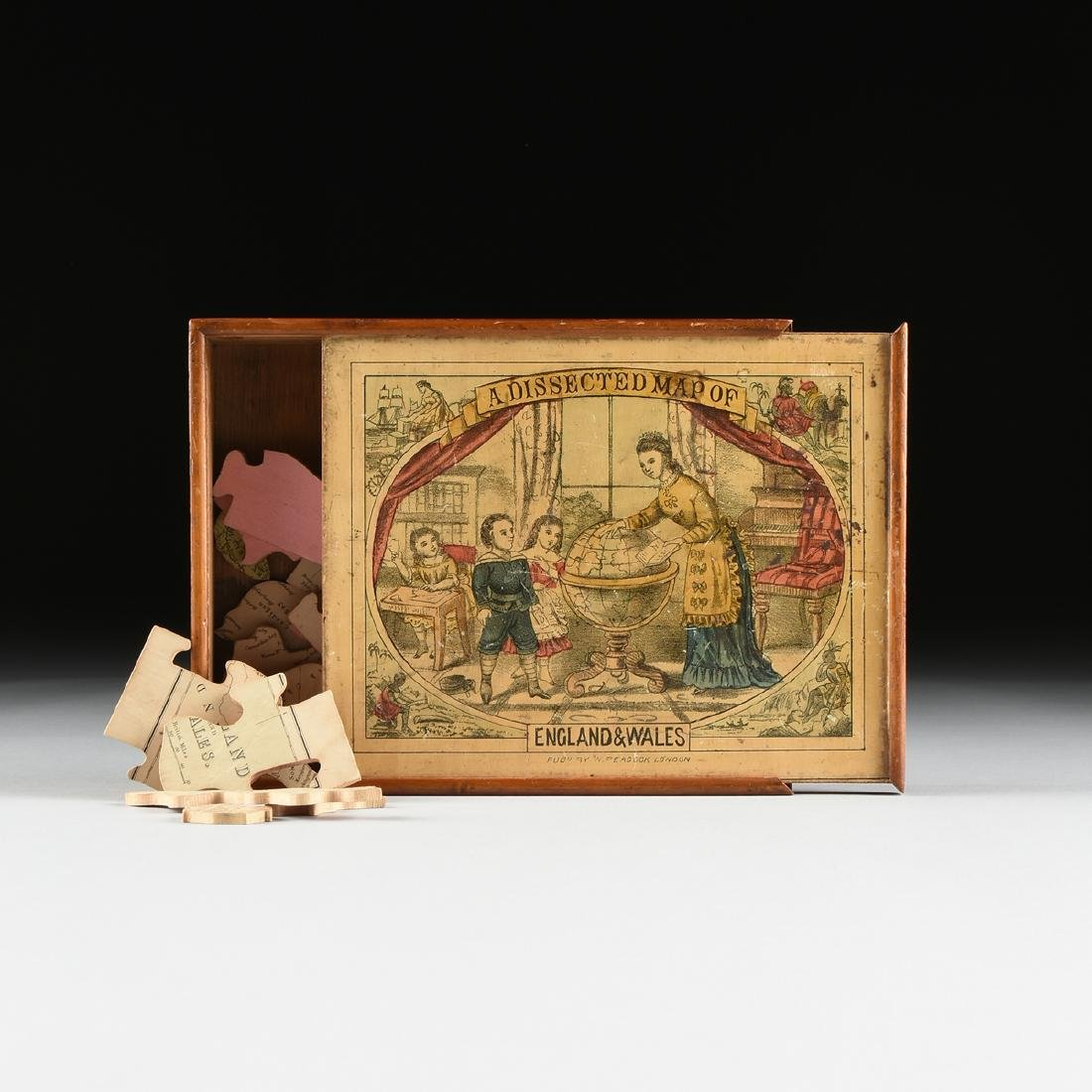"""A BOXED PEACOCK & CO. TOY JIGSAW PUZZLE, """"A DISSECTED"""
