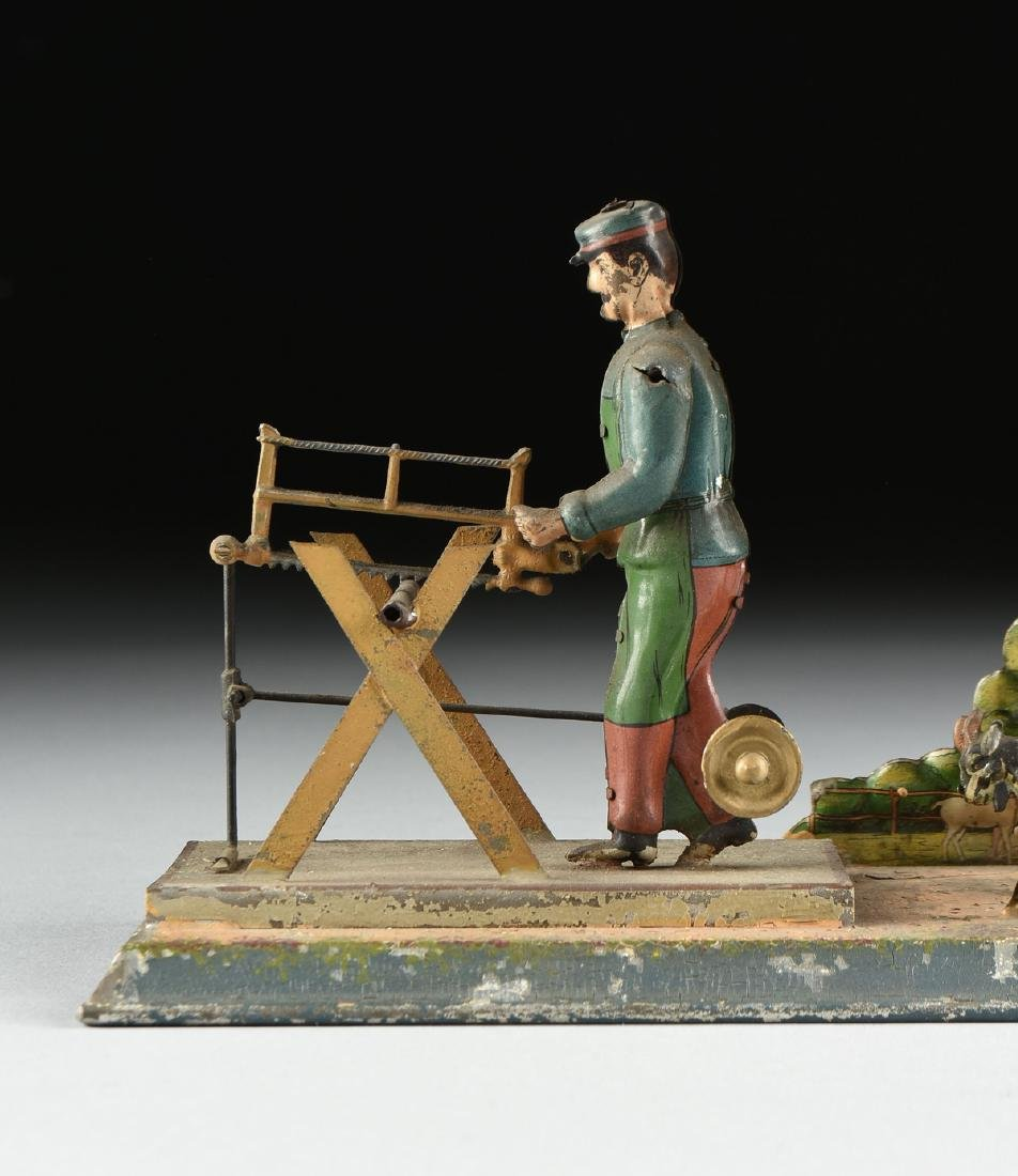 A GROUP OF SEVEN LITHOGRAPHED TIN WORKING MODEL STEAM - 8