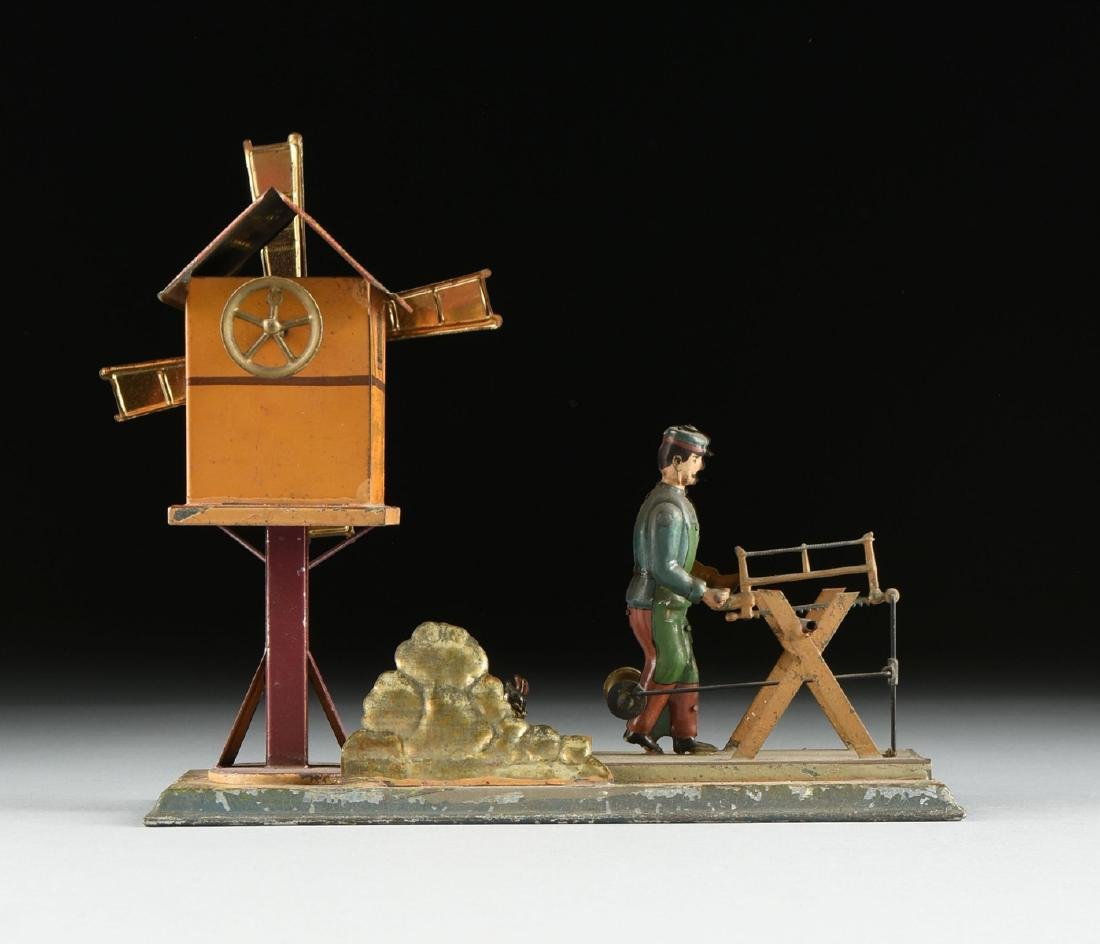 A GROUP OF SEVEN LITHOGRAPHED TIN WORKING MODEL STEAM - 9