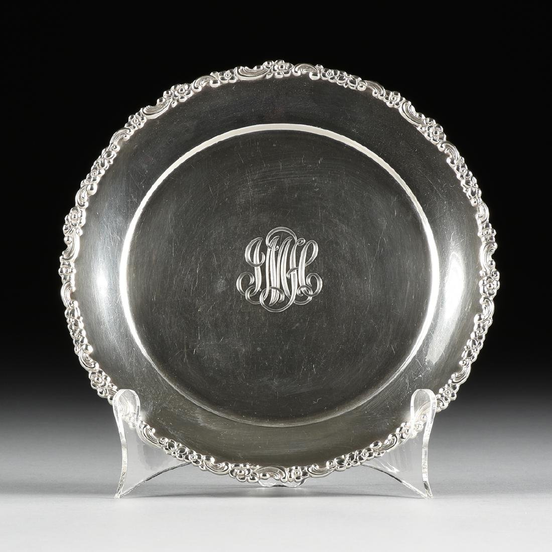 A TIFFANY & CO. STERLING SILVER PLATE, NEW YORK, NEW