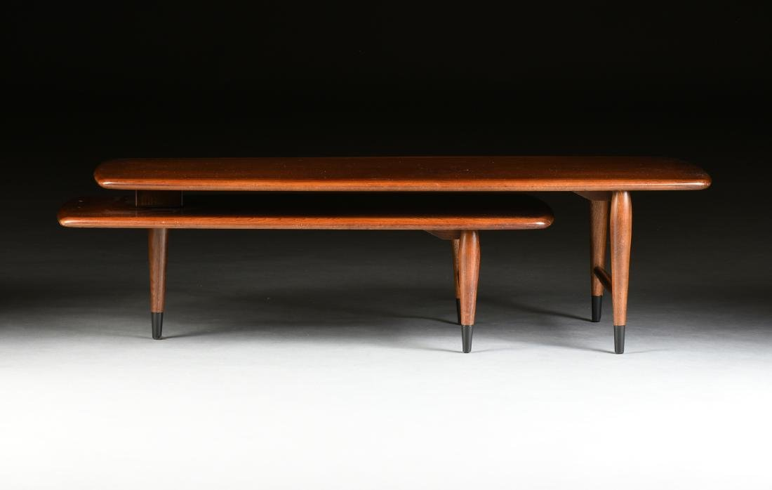 A MID CENTURY MODERN LANE WALNUT AND OAK ARTICULATED - 2