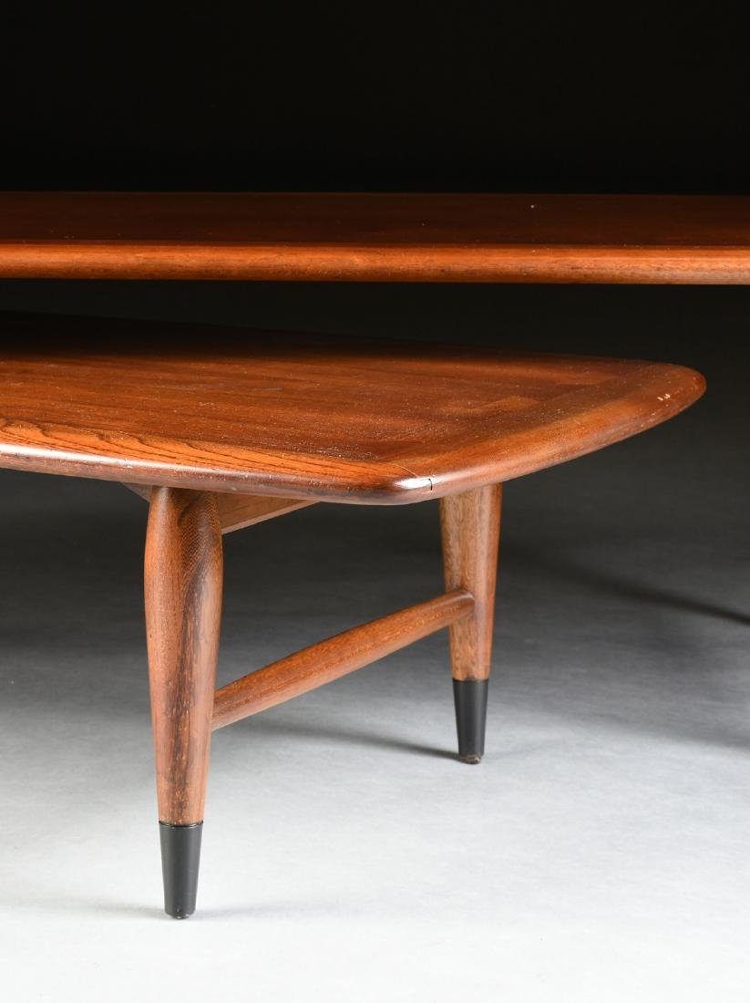 A MID CENTURY MODERN LANE WALNUT AND OAK ARTICULATED - 3