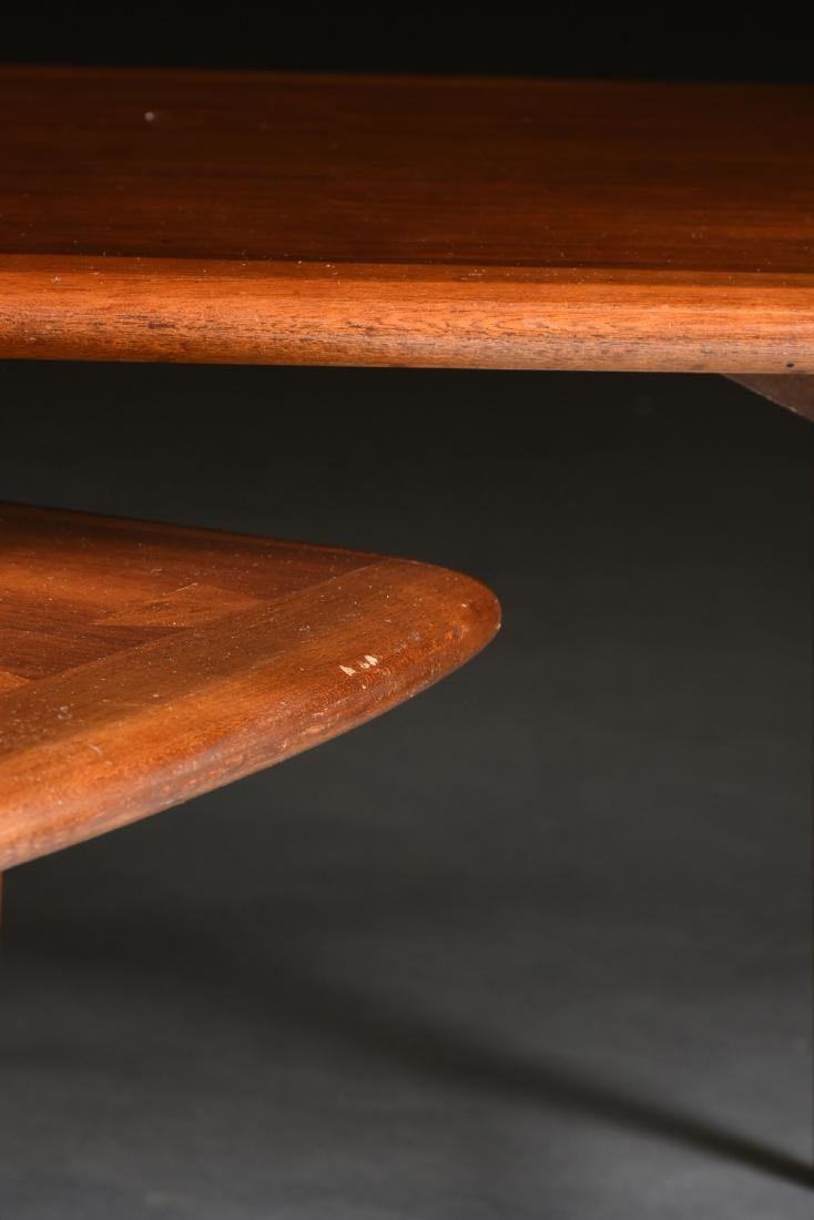 A MID CENTURY MODERN LANE WALNUT AND OAK ARTICULATED - 4