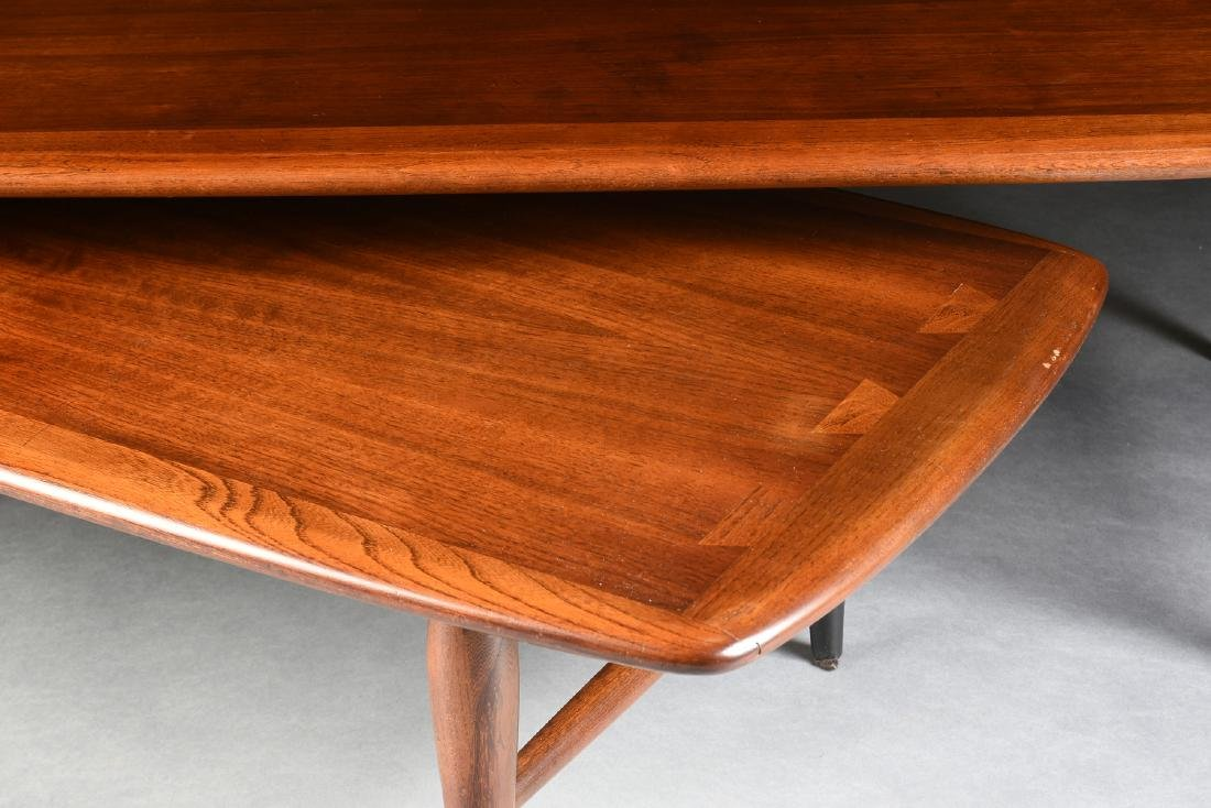 A MID CENTURY MODERN LANE WALNUT AND OAK ARTICULATED - 5