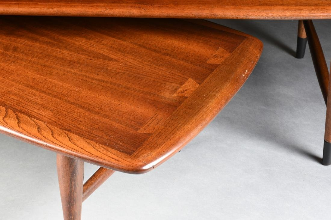 A MID CENTURY MODERN LANE WALNUT AND OAK ARTICULATED - 6