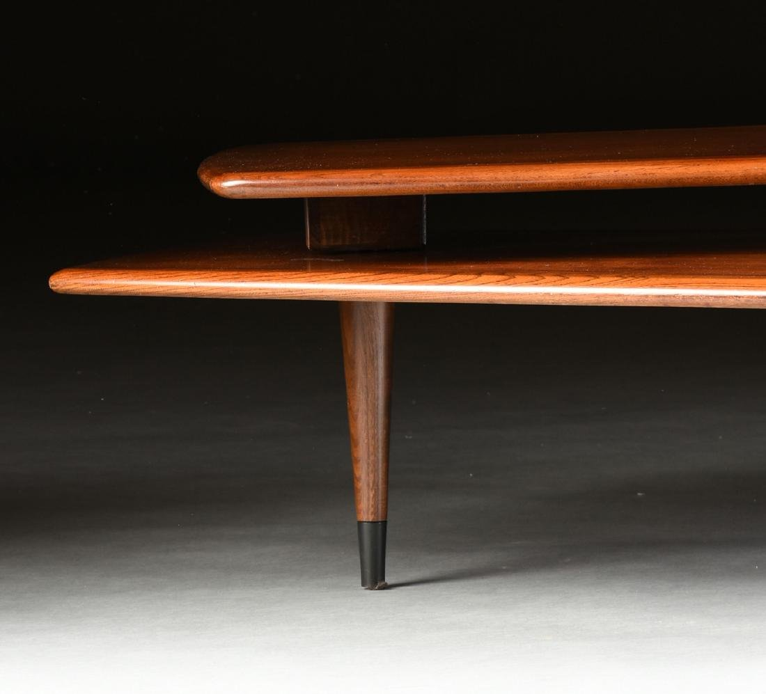 A MID CENTURY MODERN LANE WALNUT AND OAK ARTICULATED - 7