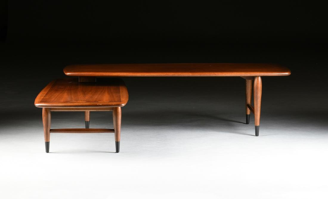 A MID CENTURY MODERN LANE WALNUT AND OAK ARTICULATED - 8
