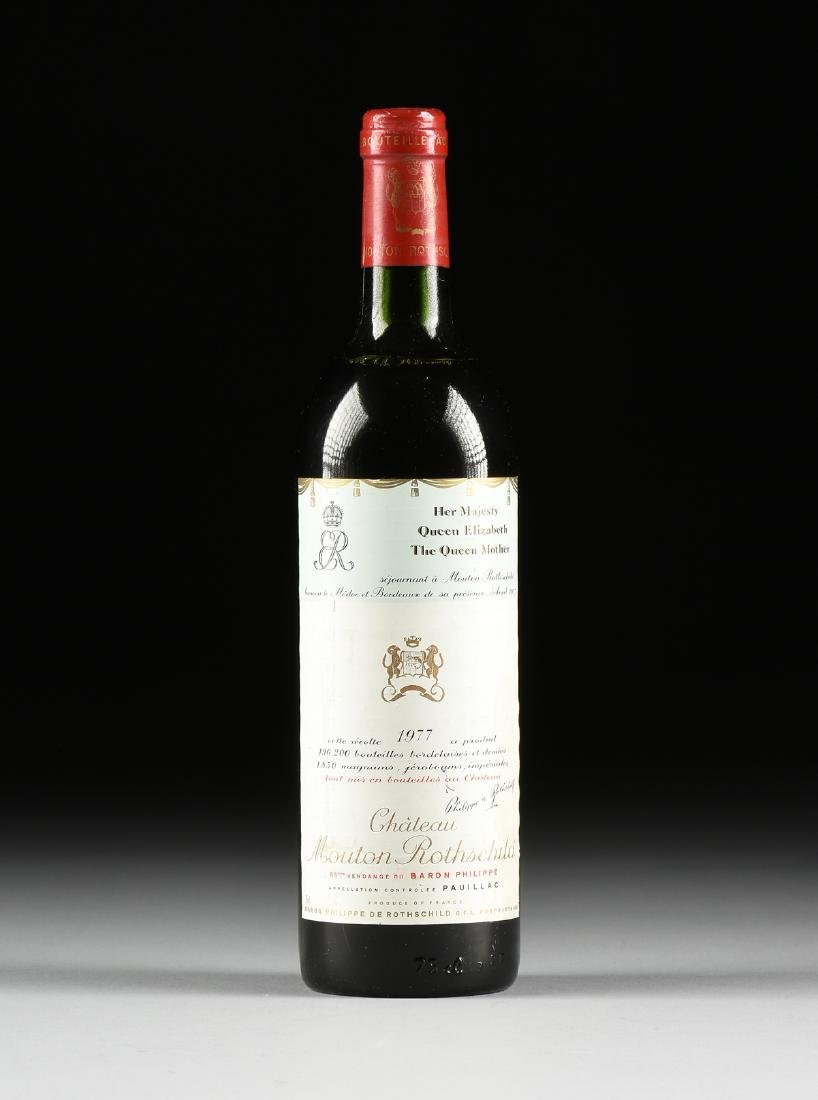 A BOTTLE OF 1977 CHATEAU MOUTON ROTHSCHILD, PAUILLAC,