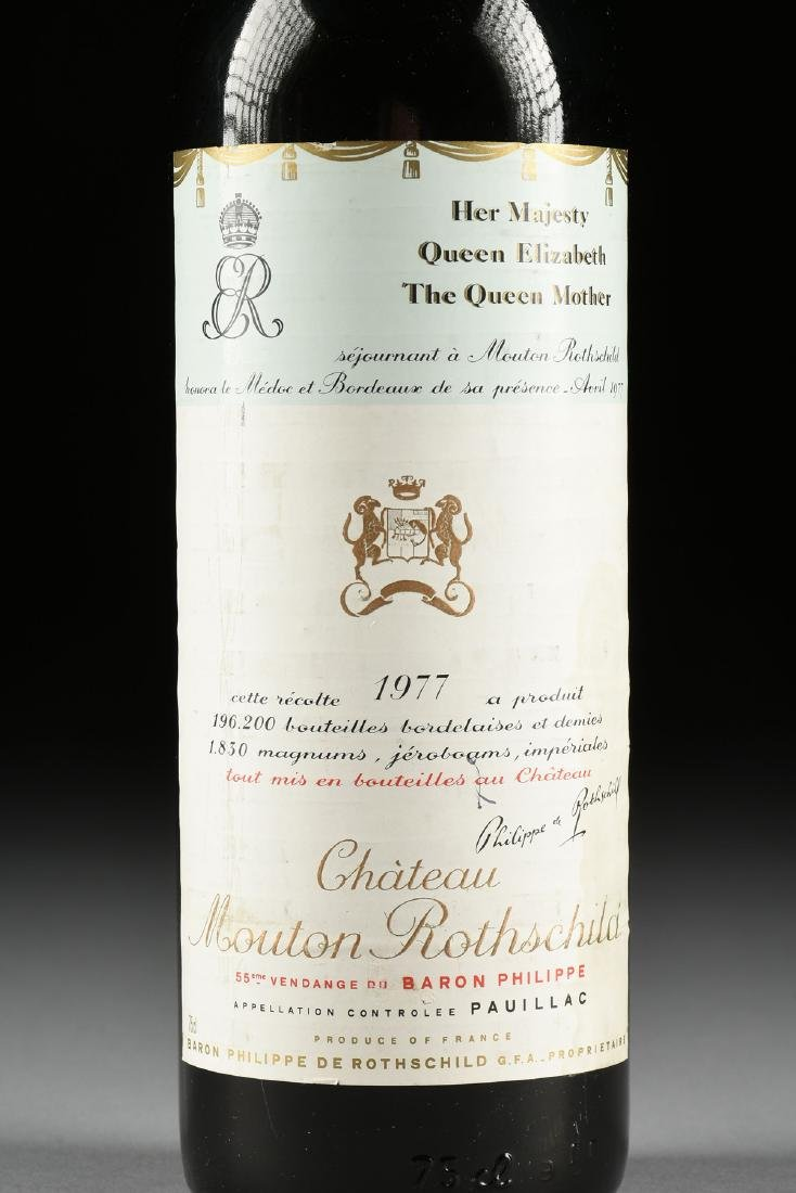 A BOTTLE OF 1977 CHATEAU MOUTON ROTHSCHILD, PAUILLAC, - 2