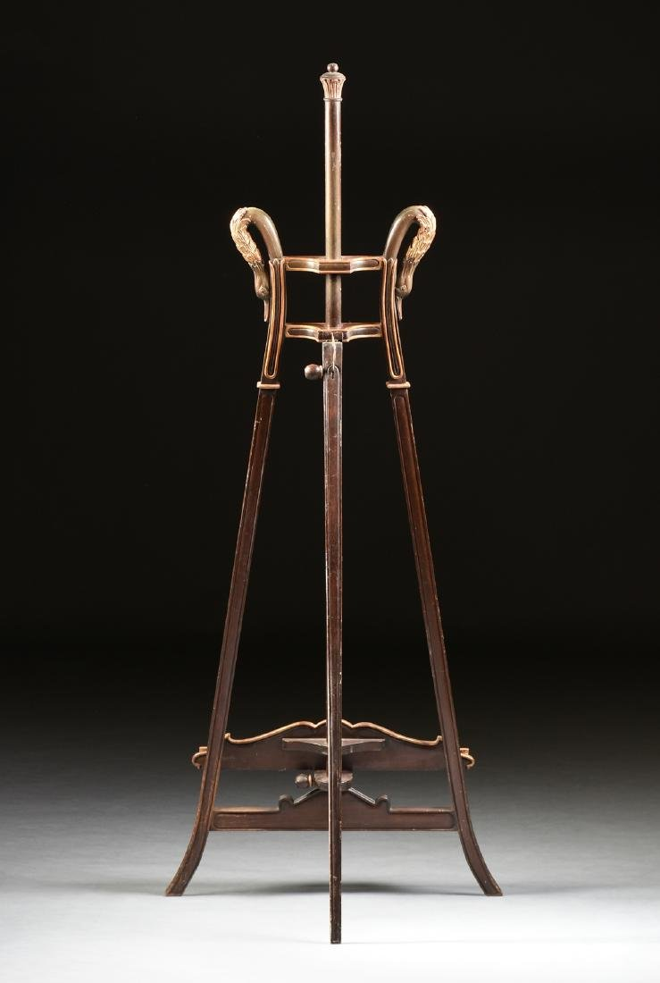 AN ART NOUVEAU PARCEL GILT MAHOGANY EASEL, 1890-1910, - 4