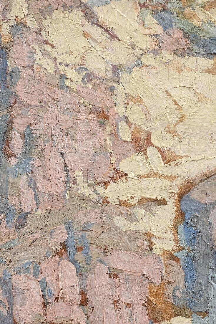 """EDGAR PAYNE (American 1883-1947) A PAINTING, """"Pink and - 6"""