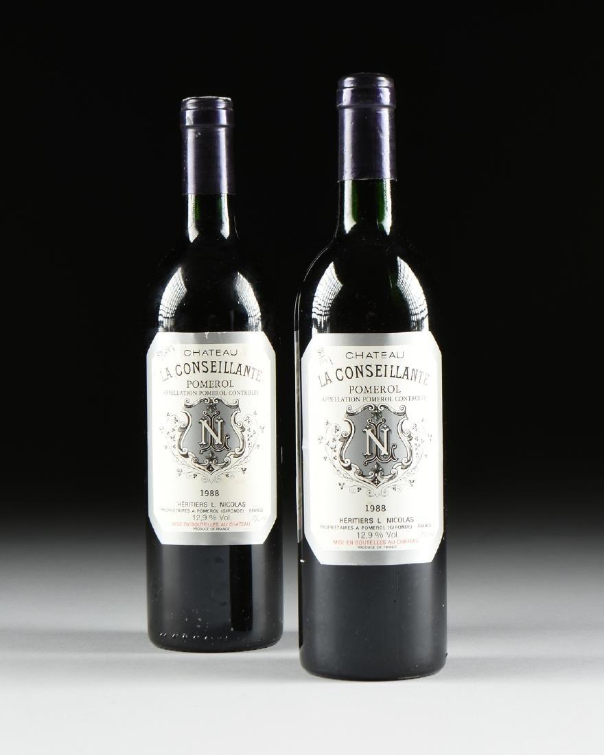 TWO BOTTLES OF 1988 CHATEAU LA CONSEILLANTE, POMEROL,