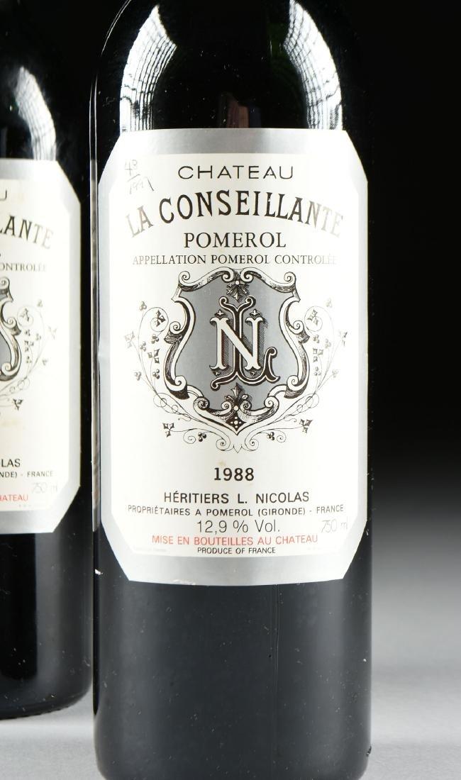 TWO BOTTLES OF 1988 CHATEAU LA CONSEILLANTE, POMEROL, - 2