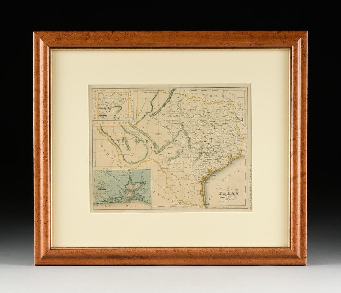 "AN ANTIQUE MAP, ""Map of Texas,"" - 2"