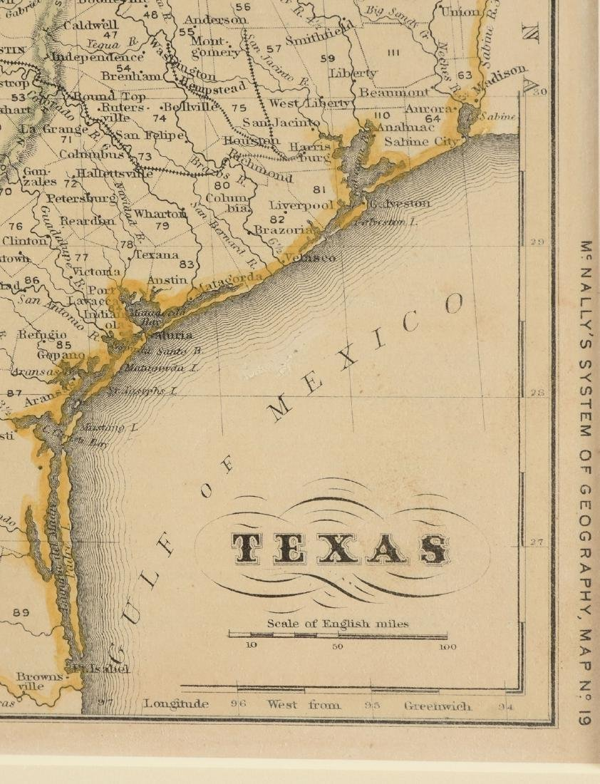 "AN ANTIQUE MAP, ""Map of Texas,"" - 3"