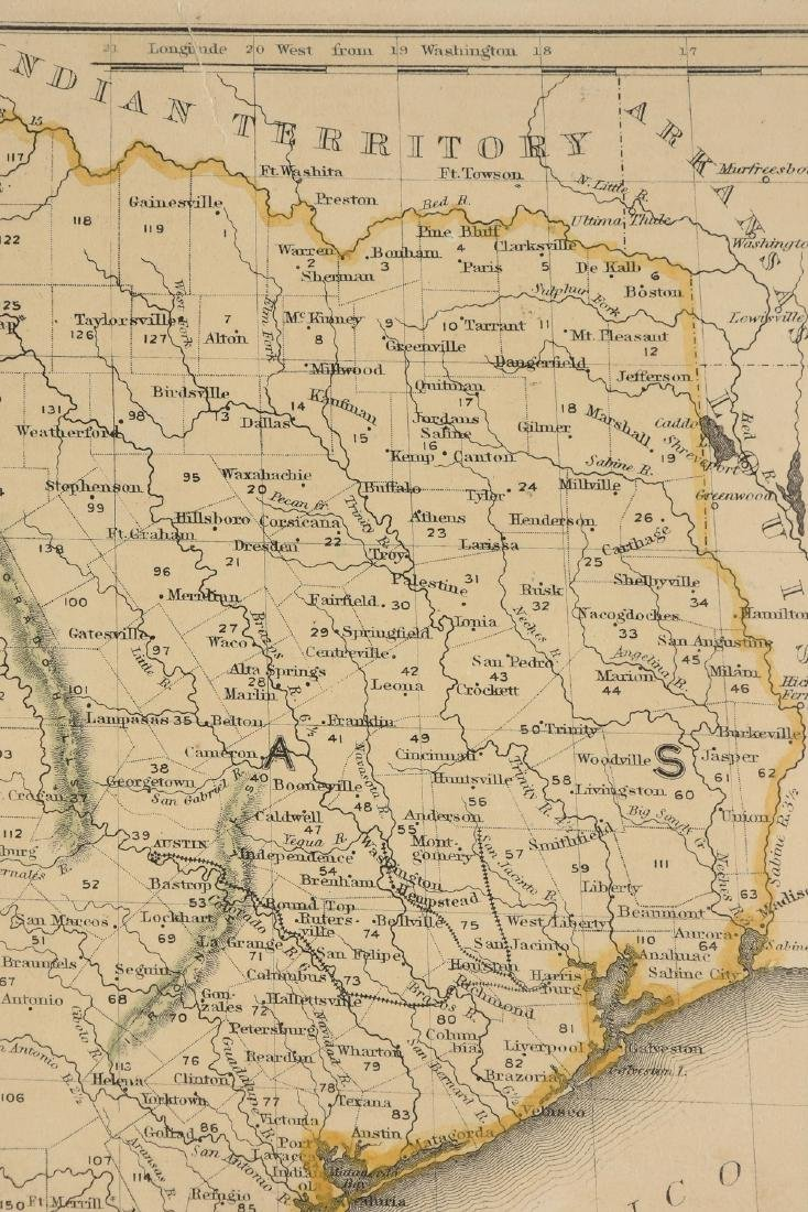 "AN ANTIQUE MAP, ""Map of Texas,"" - 4"