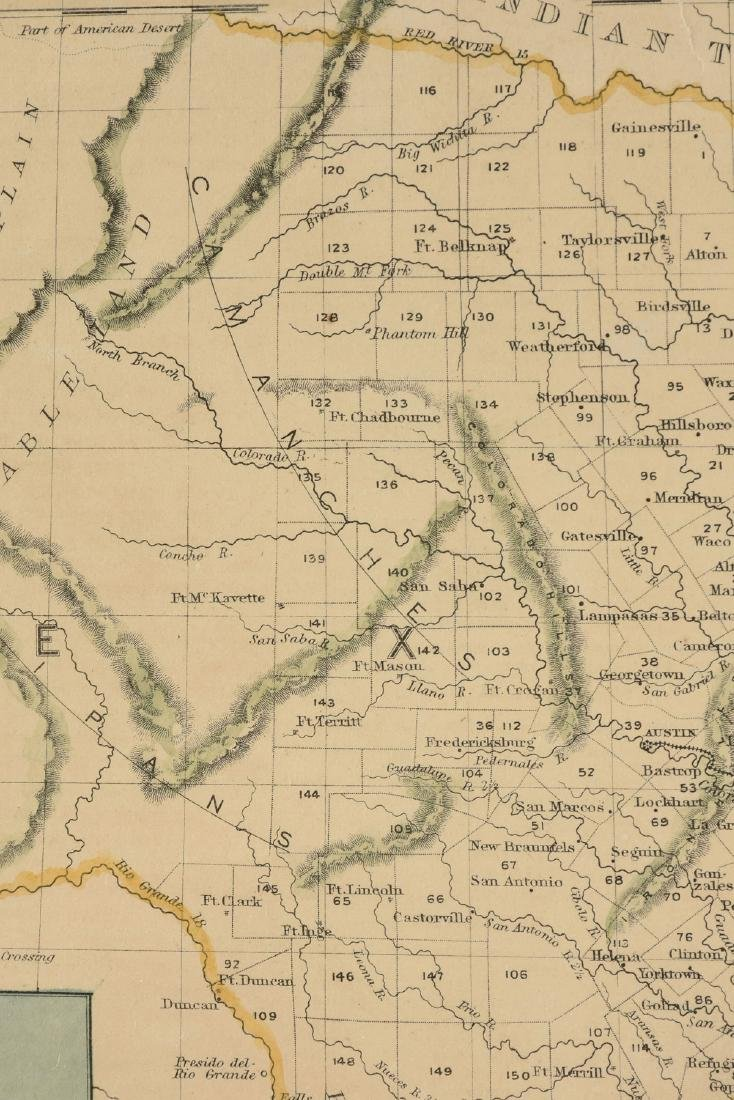 "AN ANTIQUE MAP, ""Map of Texas,"" - 5"