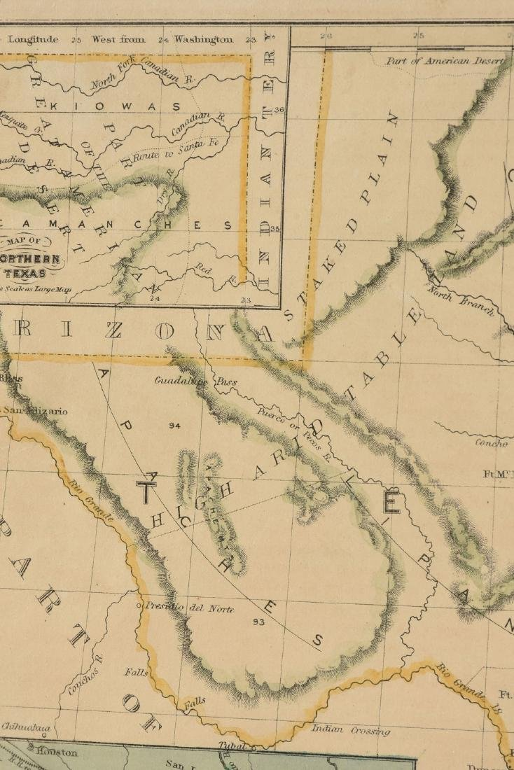 "AN ANTIQUE MAP, ""Map of Texas,"" - 6"