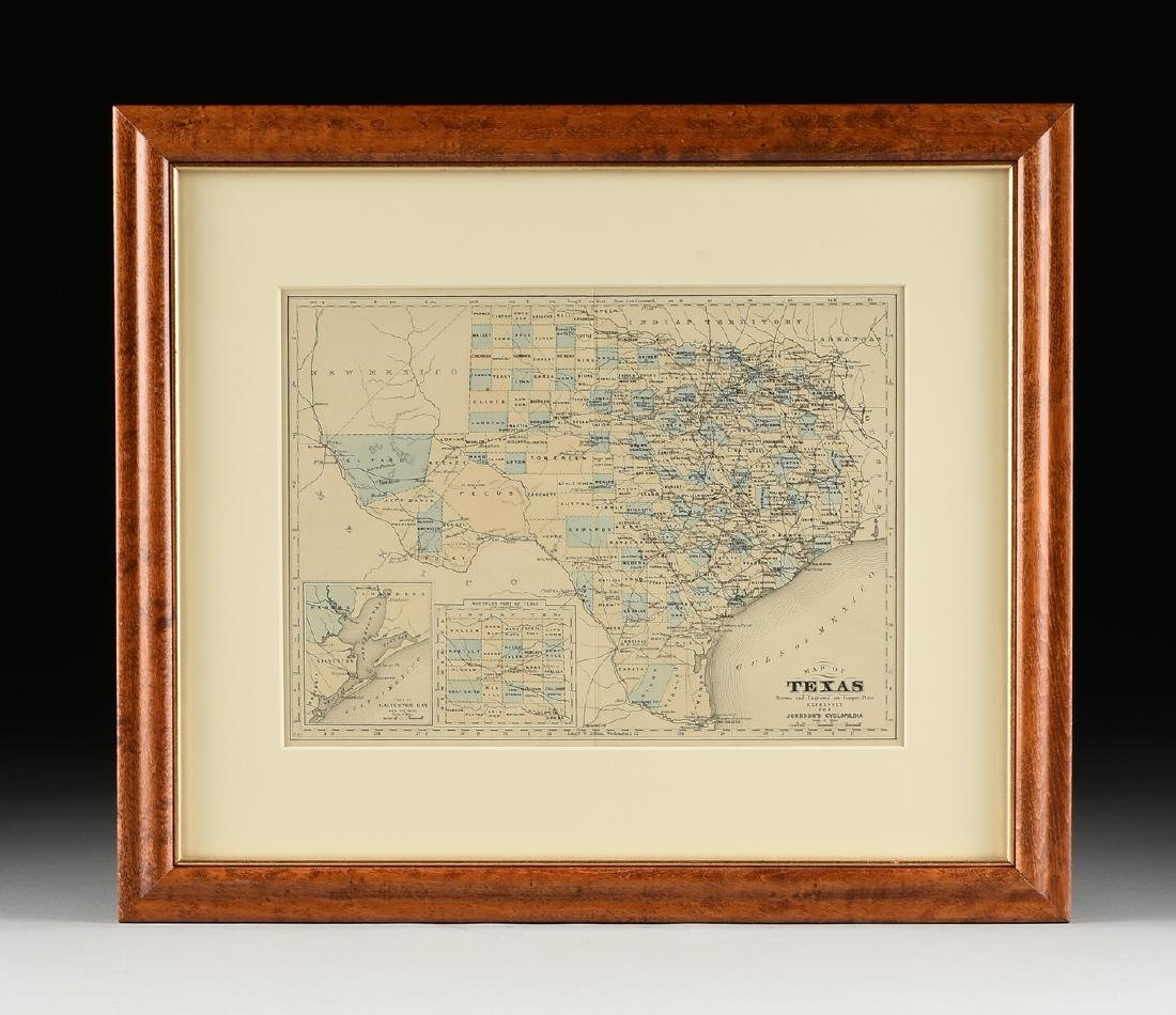 """AN ANTIQUE MAP, """"Map of Texas,"""" - 2"""