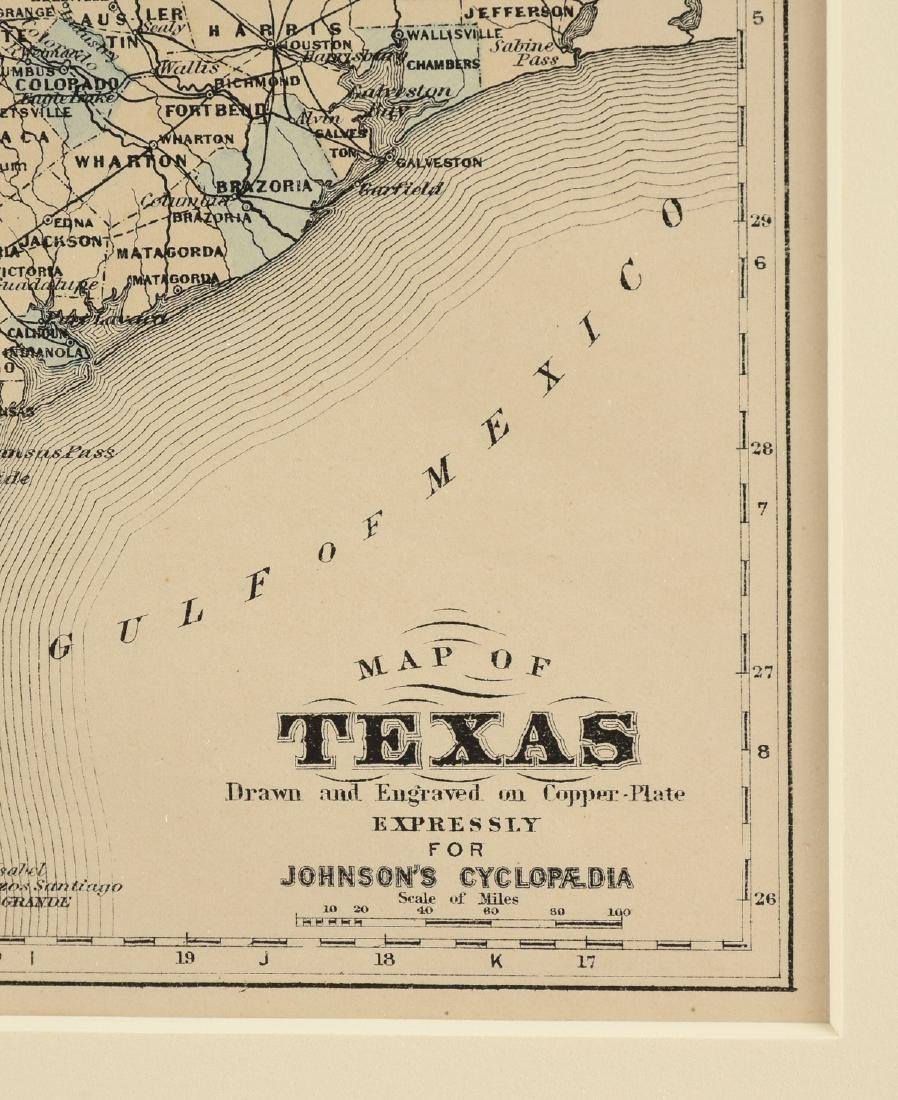 """AN ANTIQUE MAP, """"Map of Texas,"""" - 3"""