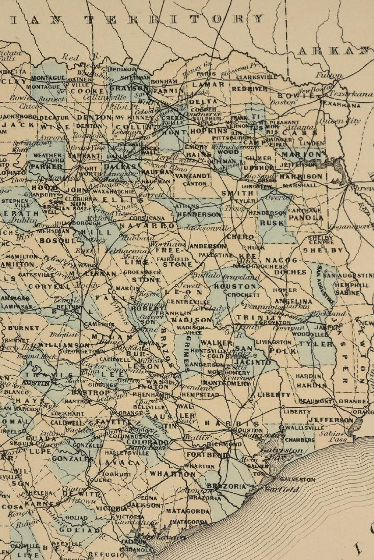 """AN ANTIQUE MAP, """"Map of Texas,"""" - 4"""