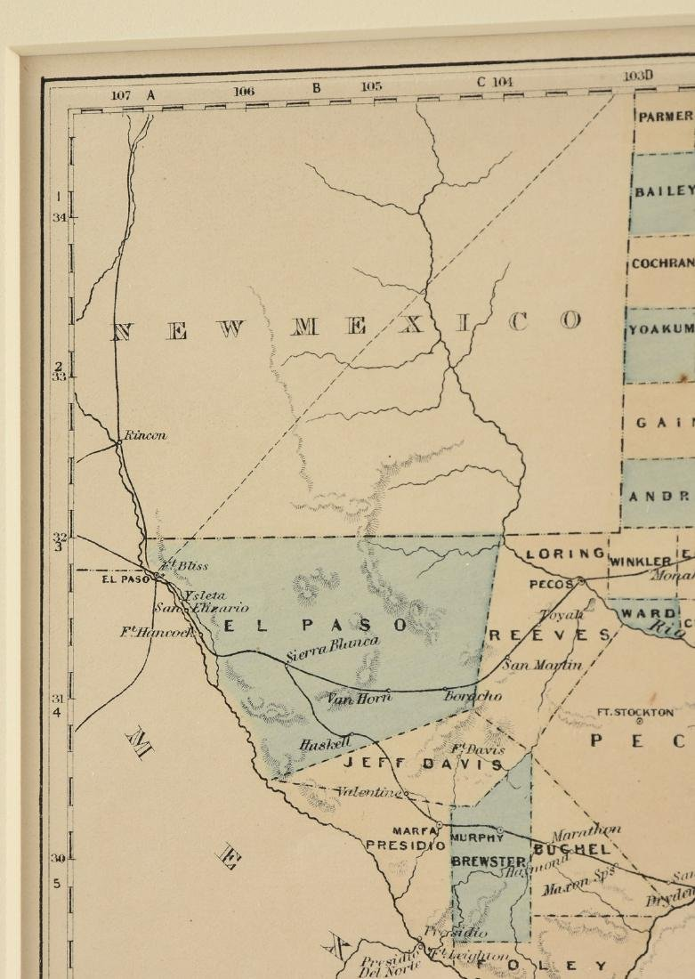 """AN ANTIQUE MAP, """"Map of Texas,"""" - 6"""