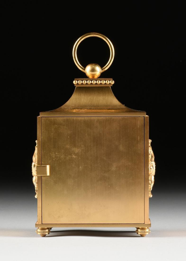 AN HOUR LAVIGNE GILT BRONZE TABLE CLOCK, SIGNED, - 7