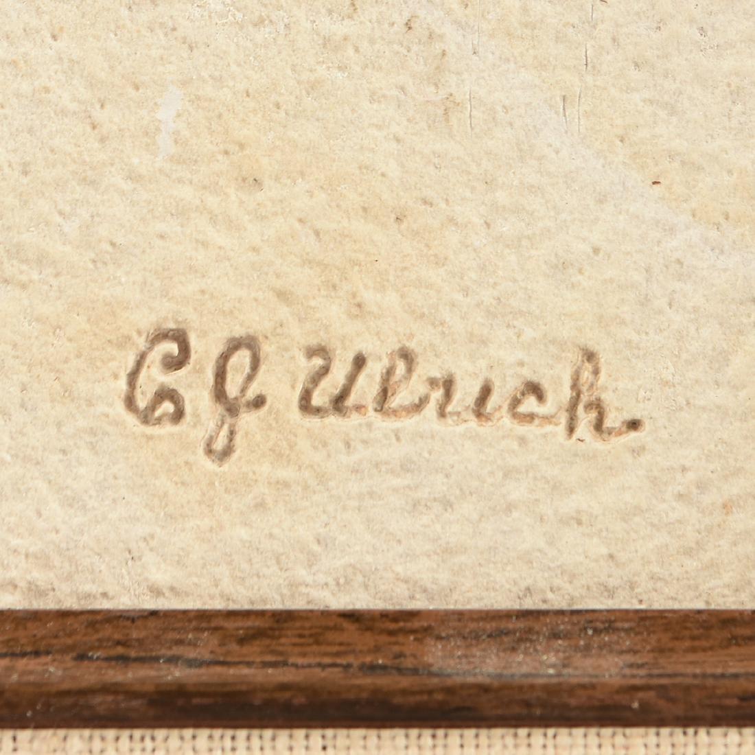 A FOSSIL PREPARED BY CARL JULIUS ULRICH (American - 3