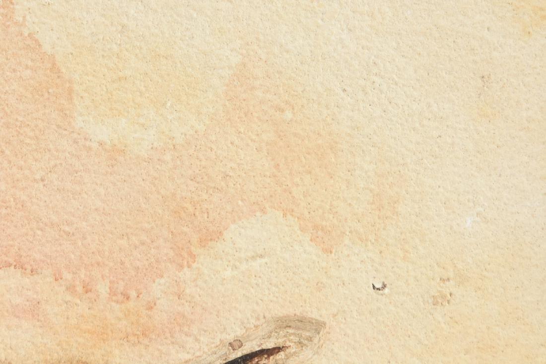 A FOSSIL PREPARED BY CARL JULIUS ULRICH (American - 8