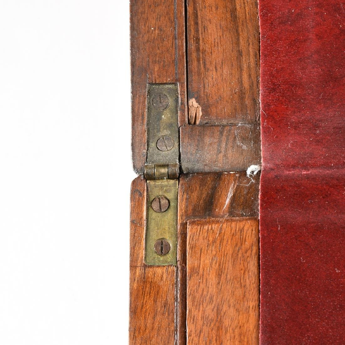 A VICTORIAN BRASS MOUNTED ROSEWOOD MAHOGANY AND WALNUT - 3