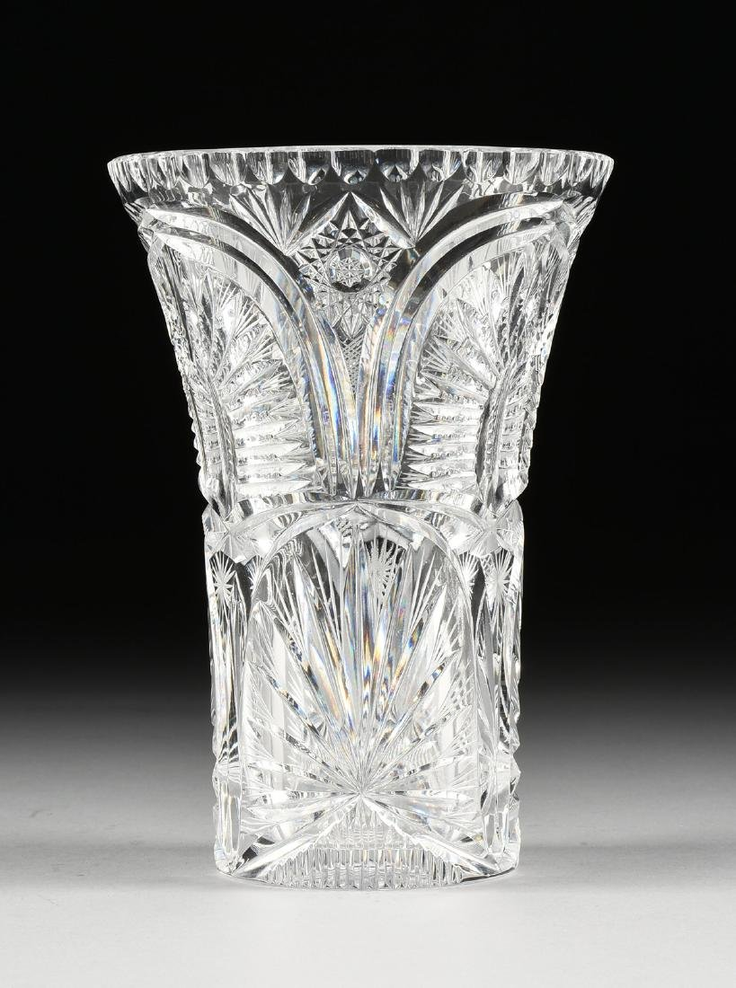 A GROUP OF TWO BRILLIANT CUT GLASS VESSELS, AMERICAN OR - 8