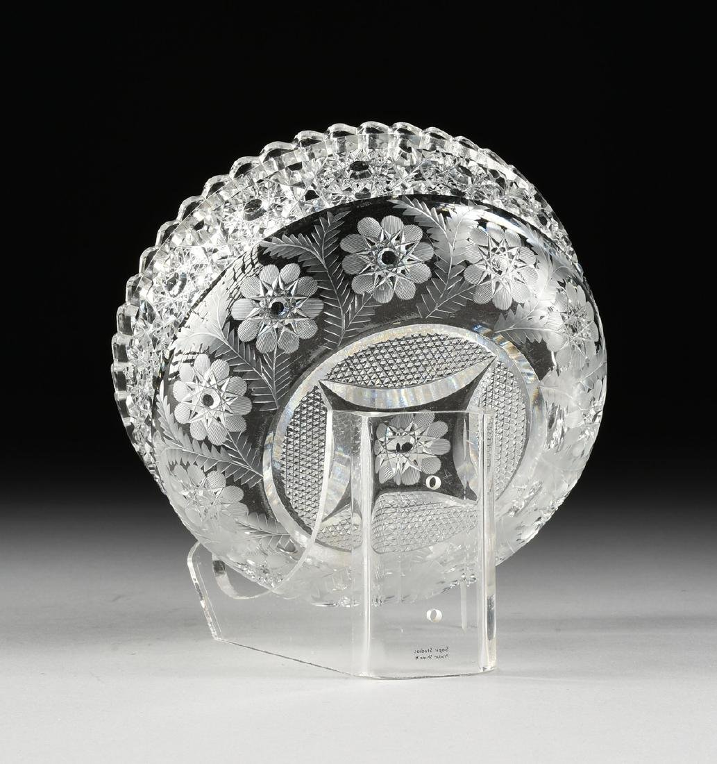 A GROUP OF TWO BRILLIANT CUT GLASS VESSELS, AMERICAN OR - 5